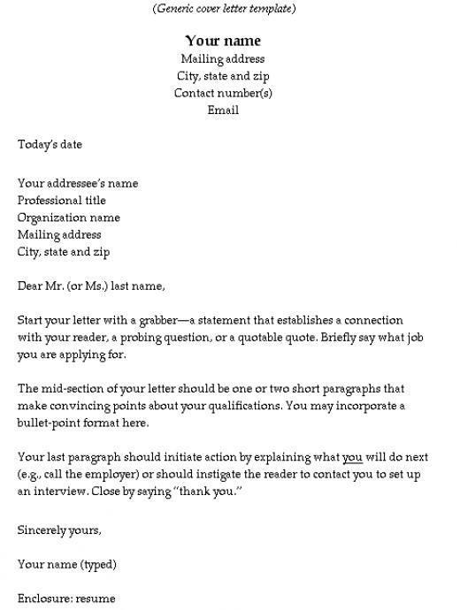 write a good cover letter for resume