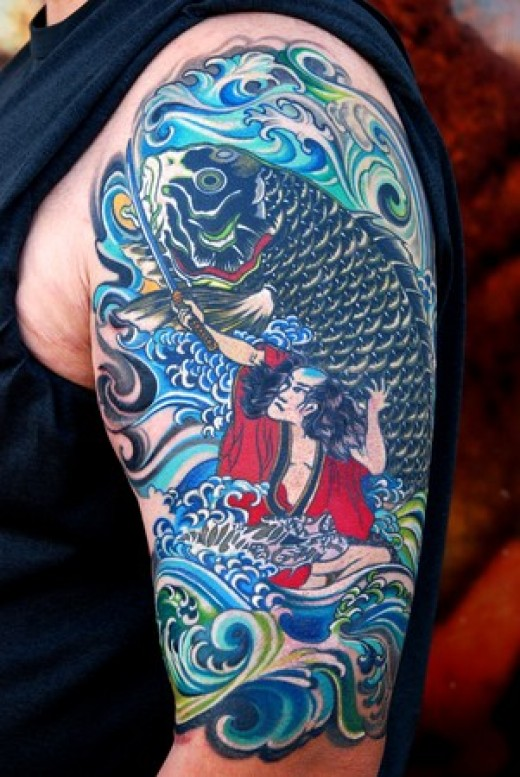 The first of my Japanese Sleeve Tattoos is also my favourite of the Japanese