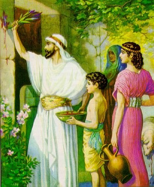 Applying the Blood of the Lamb on the Doorpost, from biblebigpicture.com