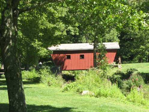 The Covered Bridge at Kent Falls State Park