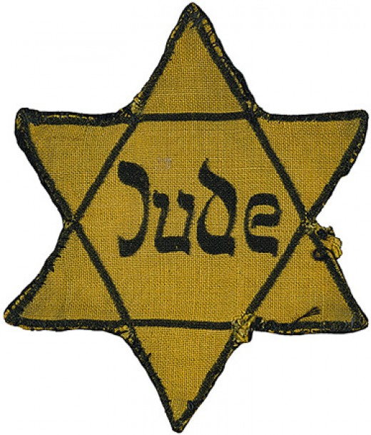 "The ""Yellow Star"" which the Nazis forced Jews to wear. Image: Imperial War Museum"