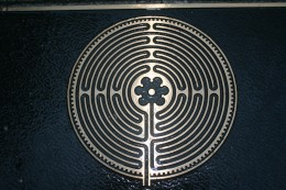 3D plaque reflecting the design of the student memorial labyrinth at Boston College