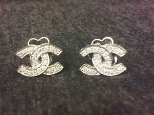 Chanel CC Logo Diamond Pave Jewelry