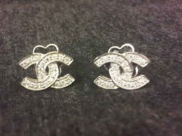 Chanel CC Logo Diamond Pave Jewelry
