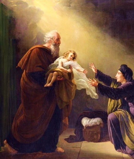 Elijah Resuscitating the Son of the Widow of Zarephath, by Louis Hersent (1777-1862)