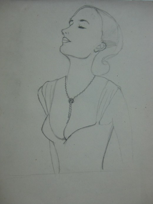 Eva Green's Drawing in Progress:2