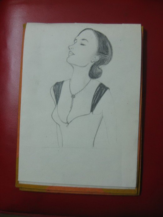Eva Green's Drawing in Progress:4