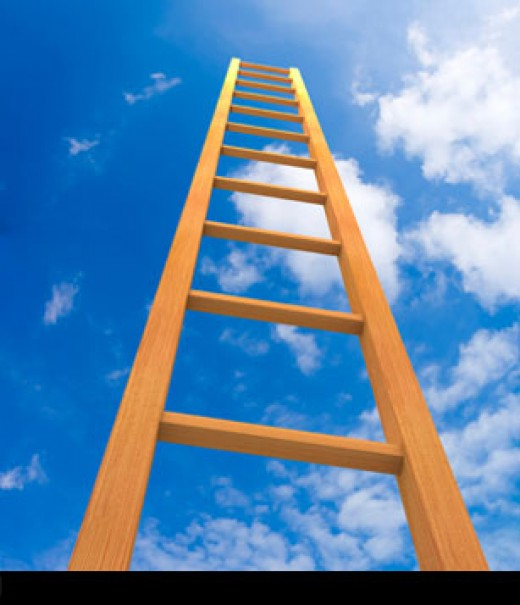 The ladder of success?  It's pointed in the right direction, at least