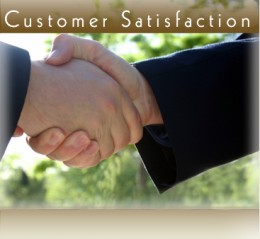 Customer satisfaction will enhance our reputation