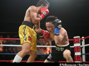 MELINDO knockout JIN MAN JEON in the 2nd round