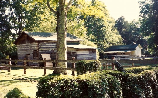 Stables on the grounds of Rowan Oak