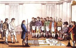 18th century Freemasonry initiation