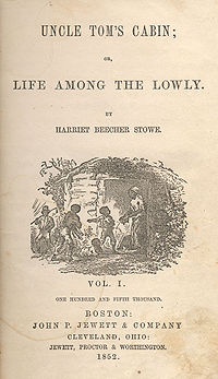 Original book cover of Uncle Tom's Cabin supplied by Wikipedia