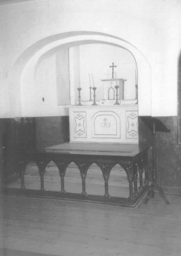 The chapel in Kilmainham Jail where Joseph Plunkett and Grace Gifford were married a few hours before his execution.