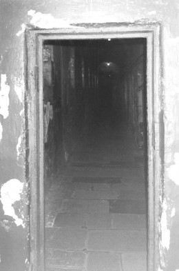 The hallway that Joseph Plunkett walked down from his cell to the chapel to get married.