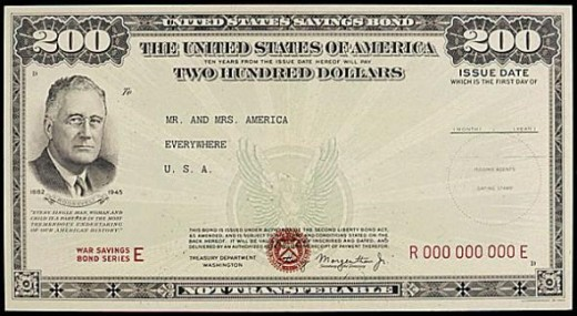 This is how the Government paid for the war materiel: War Bonds, aka, Deficit Spending