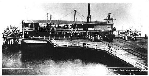 This is the General Gordon, the largest Hawkesbury River steamer in the 1920s and 193os