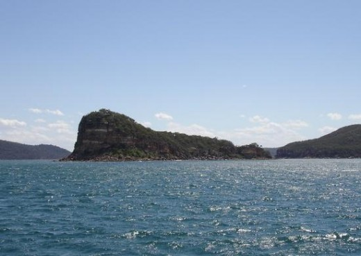 Lion Island on a fine day