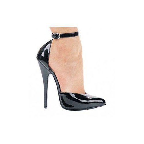 6 Inch Fetish Pump With Ankle Strap, by Ellie Shoes