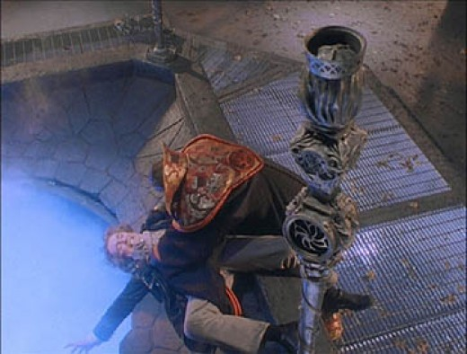 The Eighth Doctor and his arch-nemesis the Master battle over the Eye