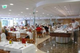 dining at the Hotel Venus, Benidorm