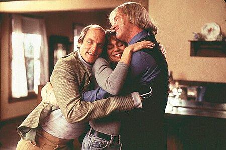 Woody Harrelson, Vanessa Angel and Randy Quaid in Kingpin