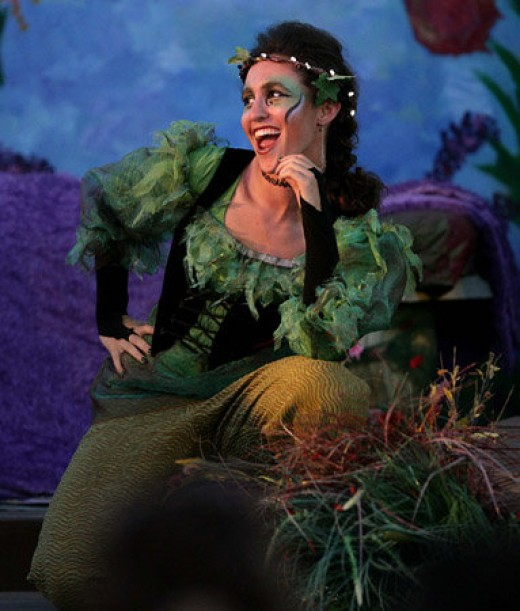 Elisa Richter who played  the mischievous Puck in Shakespeare's A Midsummer Night's Dream.                 Picture taken by the Press Enterprise.