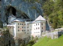 Postojna cave with the castle