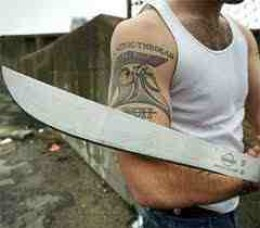 The worker's weapon of choice the machete has killed more people than the rifle.