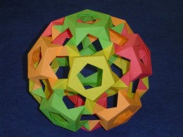 Modular origami of buckyball. Image by Micha Kosmulski