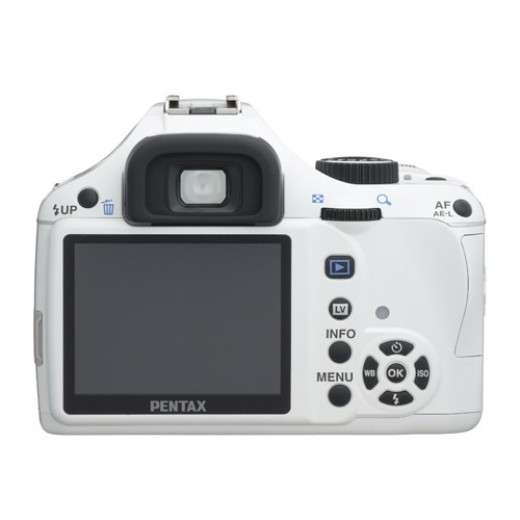 Pentax K-x 12.4 MP Digital SLR with 2.7-inch LCD - rear view