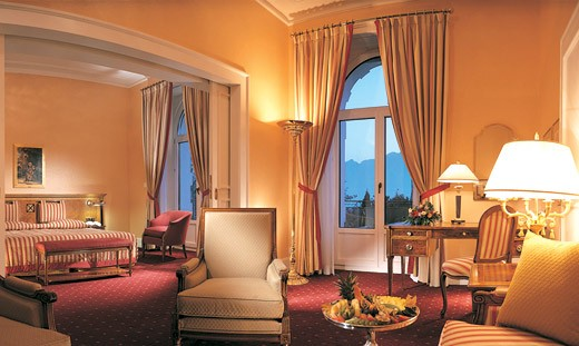 High ceilings, crown molding, exquisite draperies, are all part of the Montreux experience.