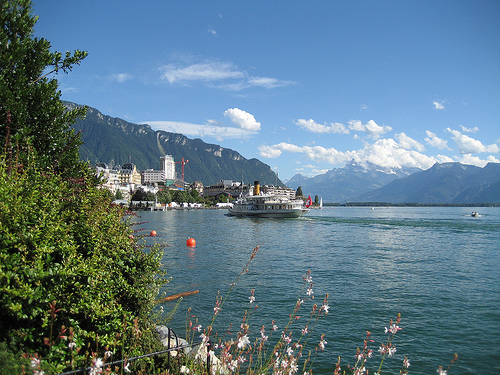 Enjoy the views of the magnificent Lake Geneva from many of the restaurants in the Montreux Palace.