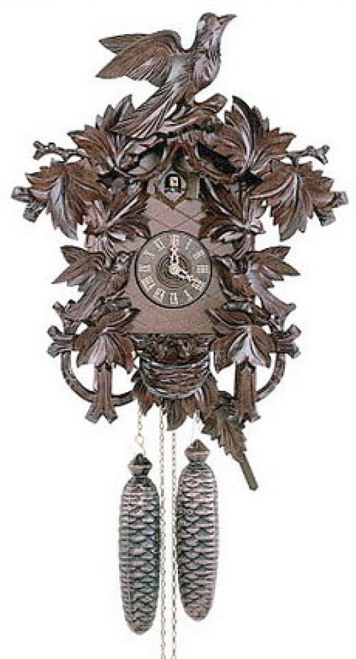 This is a German antique cuckoo clock