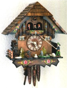 this is a great example of the typical antique cuckoo clock