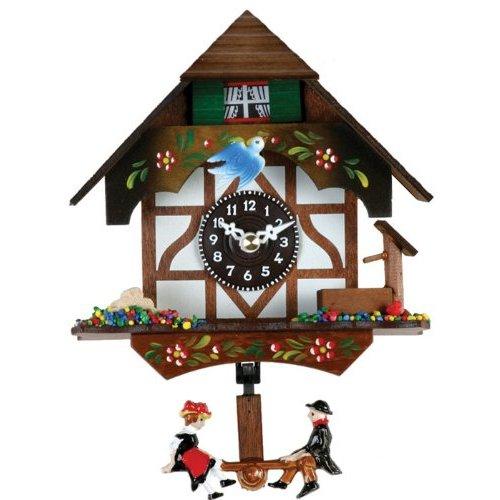 River City Clocks Quartz Novelty Cuckoo Clock - German Chalet with Bird & Well