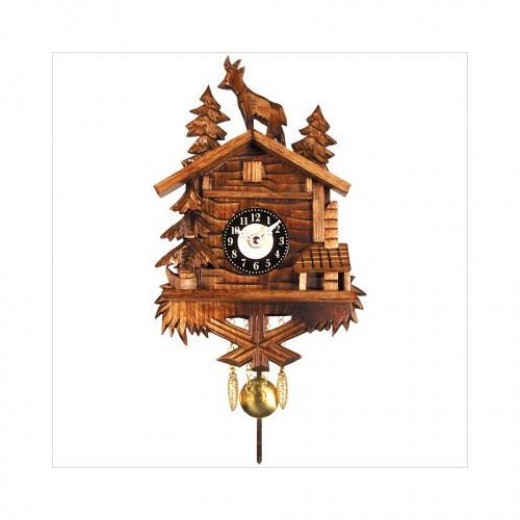 Battery Operated Cuckoo Clock with Standing Deer