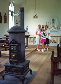 Photo inside of St. Peter's Church with my aunt, niece and mother