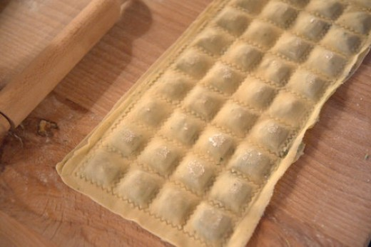 This is how the uncut agnolotti will ,ook like