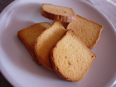 Zwieback or 'twice cooked bread', is a great chewy treat for baby.