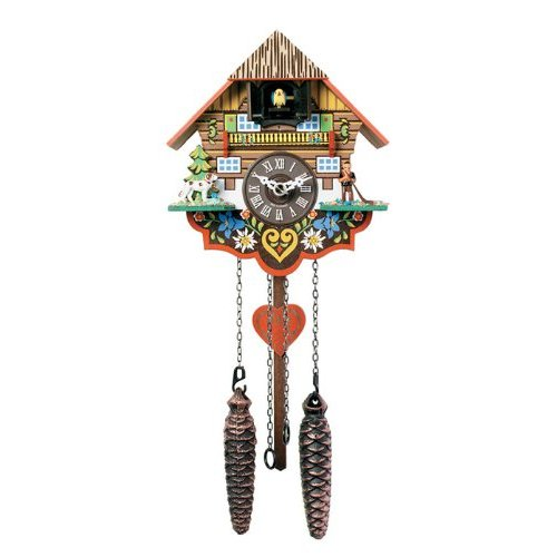 River City Clocks Musical Multi-Colored Quartz Cuckoo Clock