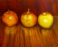 Soft Pastel Pictures - Three Apples