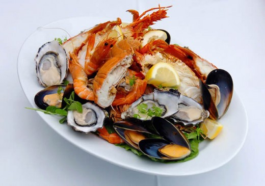 Marietta Diner Seafood Platter-Unique Good Eats Atlanta Georgia area