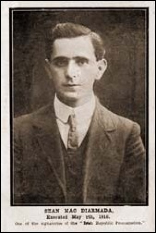 Sean MacDermott executed after the Easter Rising in Dublin 1916