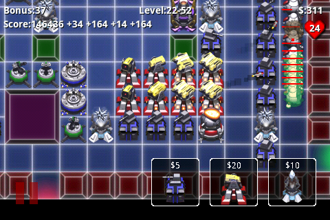 Robo Defense, screenshot from homepage