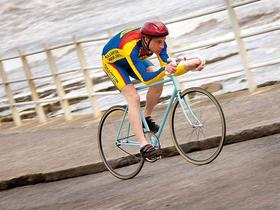 Graeme Obree in training