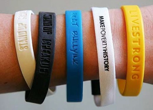 Recycled Fashion Reuse And Recycle Silicone Charity Bands