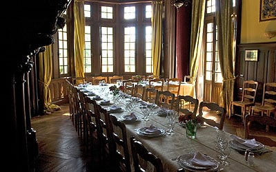 One of the three dining rooms available