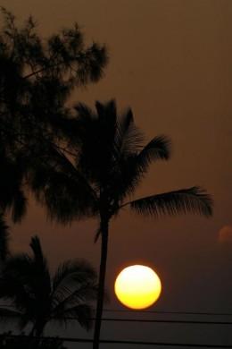 Sunset in Waikoloa Beach Resort.