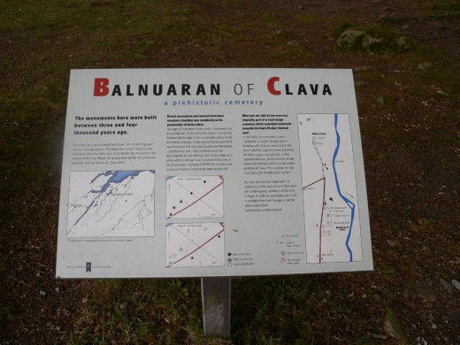 Balnuaran of Clava, the first prehistoric site we saw.  At this time we didn't know the difference between a cairn and stone circle.